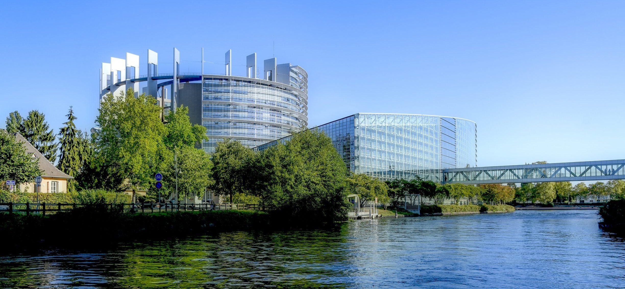 European Parliament building in Strasbourg
