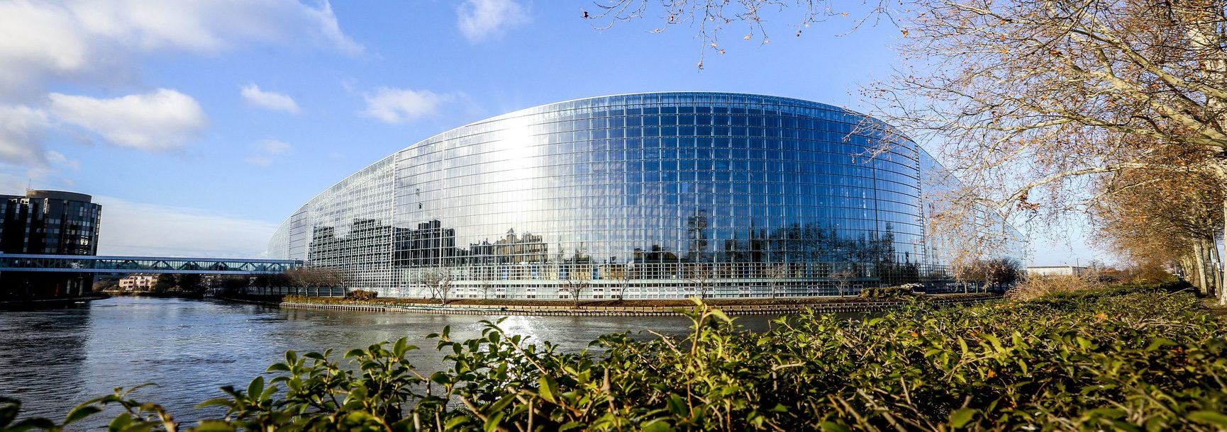 Building of the European parliament in Strasbourg