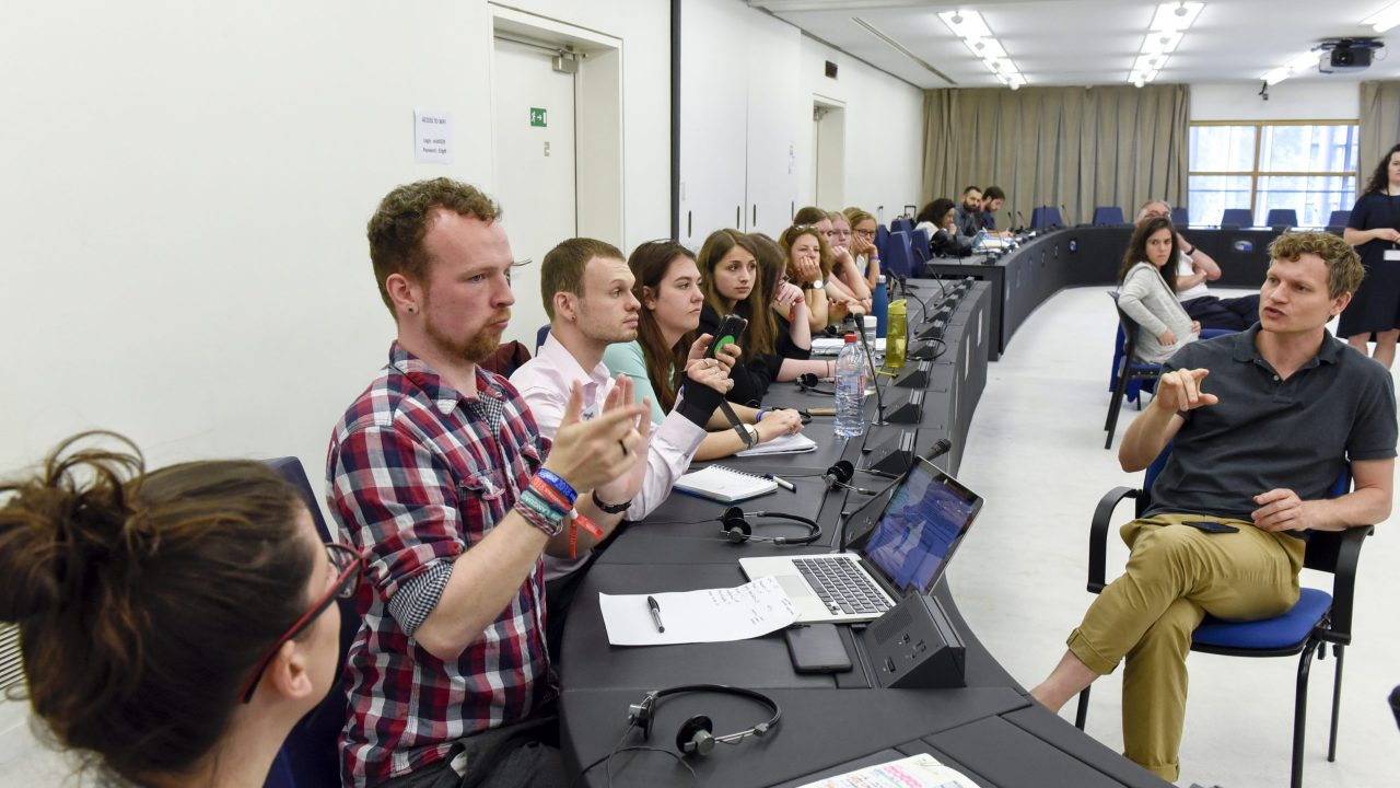 European Youth Event 2018 - #EYE2018 - Discussion RICH AND POOR: calling for a fair share  '  Full social inclusion: Make it a reality! ' organised by the European Union of the Deaf Youth (EUDY)